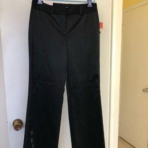 NWT Holiday Black silky tuxedo style pants